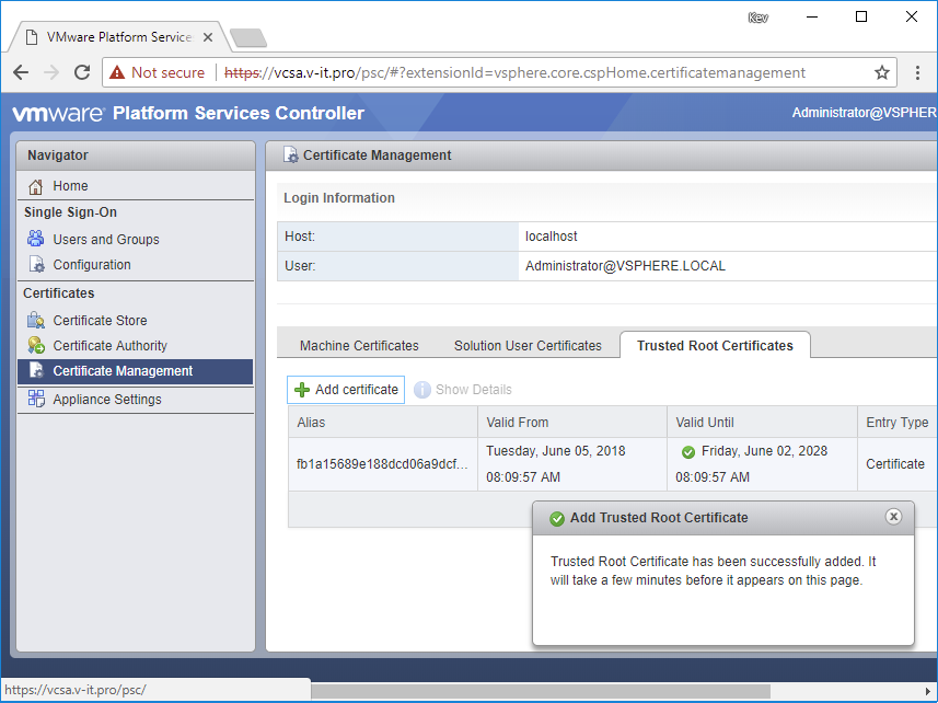 Replacing Vcenter Ssl Machine Certificates In A Multi Tier Pki